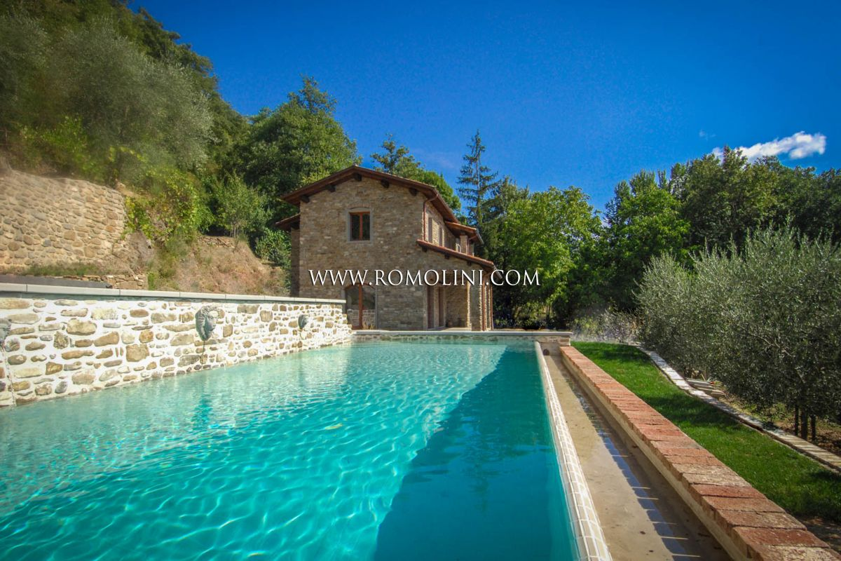 PIEVE SANTO STEFANO: COUNTRY HOUSE WITH GARDEN AND POOL FOR SALE, TUSCANY, VILLA, TO BE COMPLETED, BUILDER'S FINISH, AREZZO