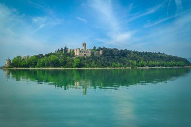 TRASIMENO LAKE: 19TH CENTURY CASTLE FOR SALE ON THE ISOLA MAGGIORE, UMBRIA, TUORO SUL TRASIMENO, CONVENT, LUXURY PROPERTY, ISLAND, HOTEL, POOL, PARK, GUGLIELMI CASTLE, ISABELLA CASTLE