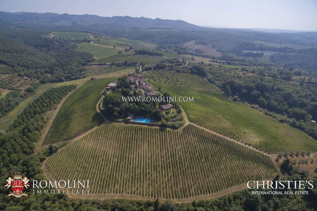 CASTLE FOR SALE ITALY, CHIANTI CLASSICO WINE RY DOCG TUSCANY AREA, Vineyards near Florence and Siena