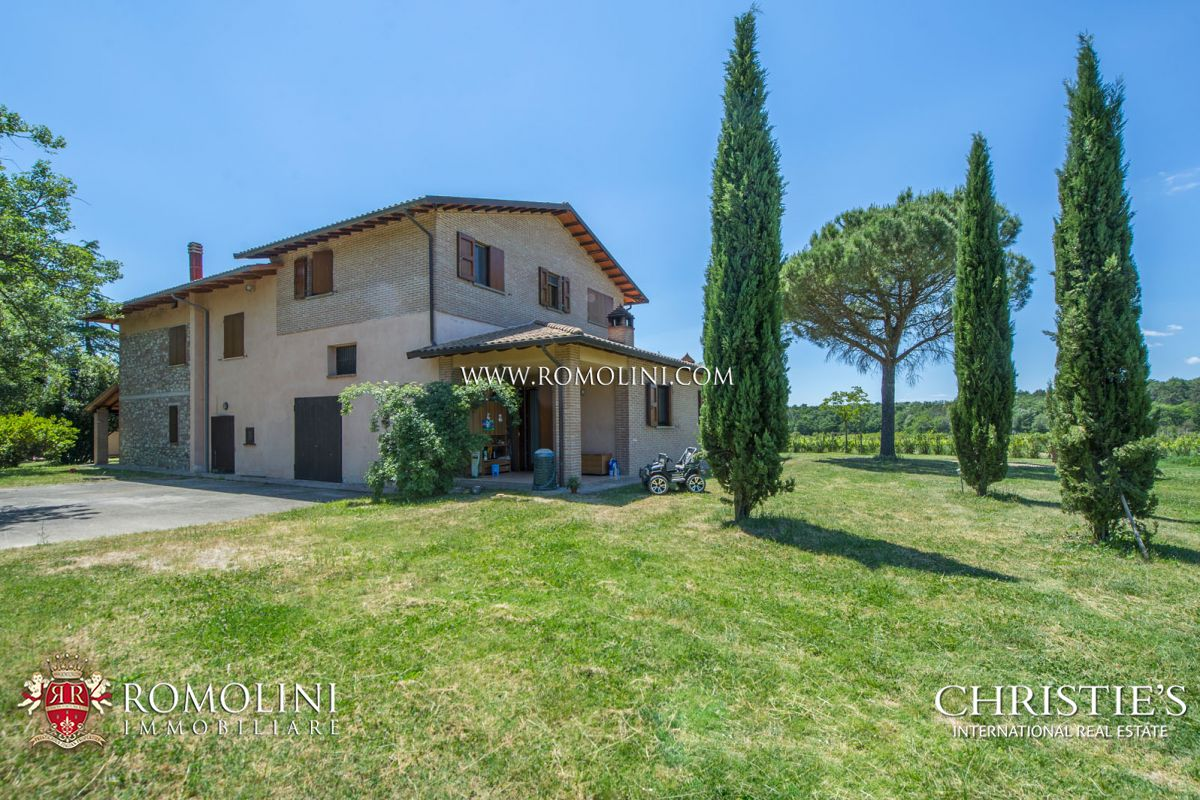WINE ESTATE WITH 13 HA OF VINEYARDS FOR SALE ON THE TRASIMENO LAKE, UMBRIA