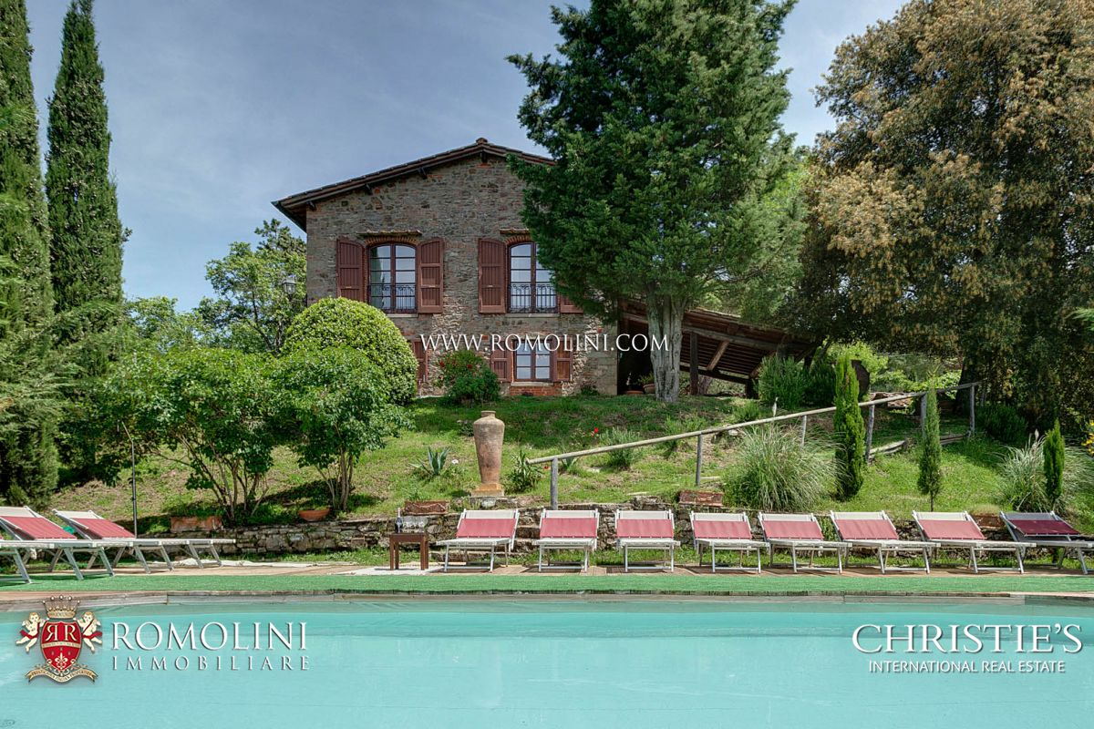 GREVE IN CHIANTI: HISTORICAL FARMHOUSE WITH POOL AND PANORAMIC VIEW FOR SALE, FLORENCE, TUSCANY, COUNTRY HOUSE, CHURCH