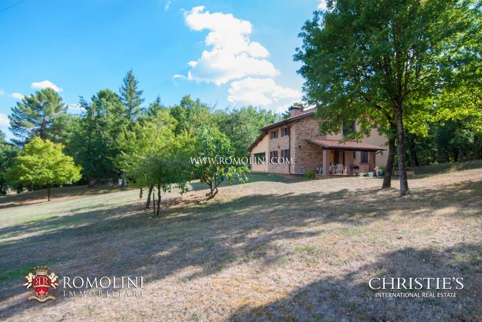 AREZZO, TUSCANY: VILLA WITH PRIVACY AND WOOD FOR SALE