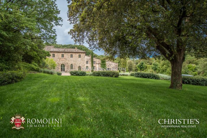 LUXURY FARMHOUSE WITH POOL, SPA AND VINEYARD FOR SALE IN MONTALCINO