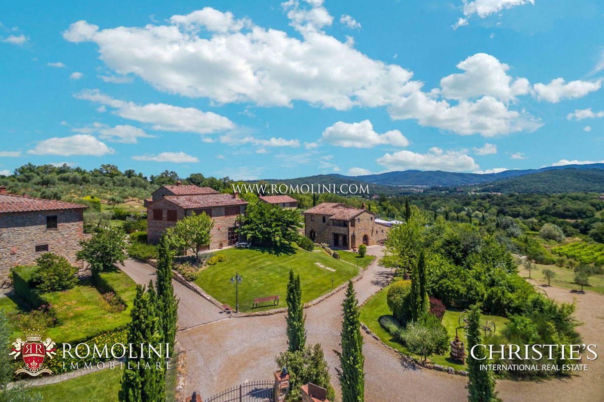 85 HA ESTATE WITH HAMLETS AND CHIANTI VINEYARD FOR SALE, TUSCANY