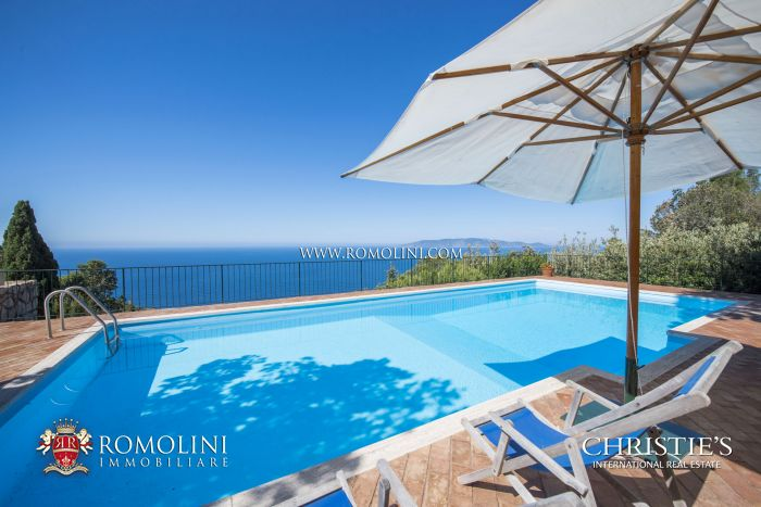 SEA VIEW VILLA WITH POOL FOR SALE MONTE ARGENTARIO