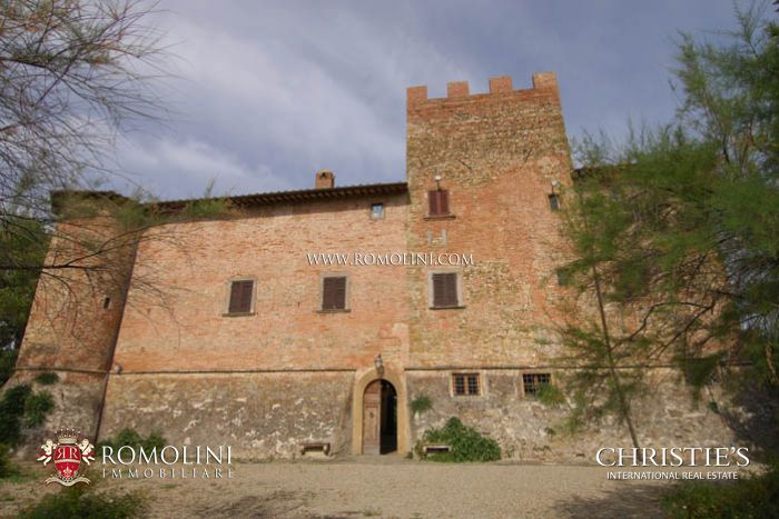 CASTLE FOR SALE WITH VINEYARD AND OLIVE GROVE FLORENCE TUSCANY