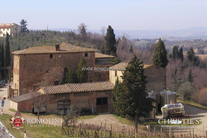WINE AND OIL PRODUCING ESTATE FOR SALE CERTALDO, Chianti DOCG Wine, IGT, extra virgin olive oil